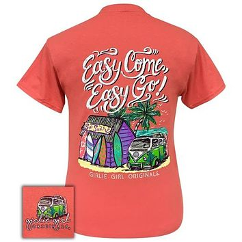 Girlie Girl Originals Preppy Easy Go Coral Silk T-Shirt