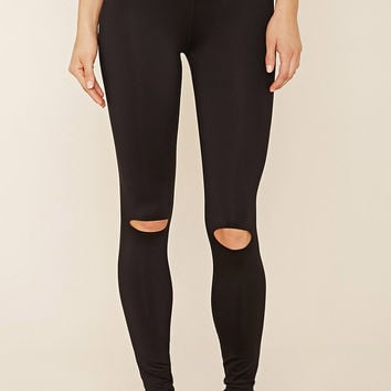 Active Ripped-Knee Leggings