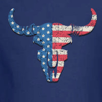American Bull Steer Texas USA T-shirt Shirt United States Pride 4th of July America Merica cool gift nation Mens Ladies swag MLG-1134
