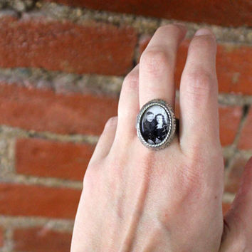 Large Unisex  Photo Ring