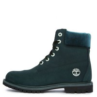 "The Timberland 6"" Premium Nubuck and Velvet in Dark Green"