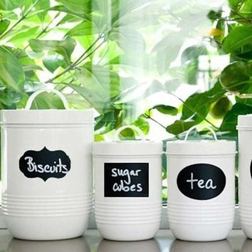 New 36pcs Decal Wall Chalkboard Sticker Labels for Canisters Kitchen Jars Pantry