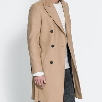 CAMEL COAT WITH FUR COLLAR - Coats and Trench coats - Man | ZARA United States