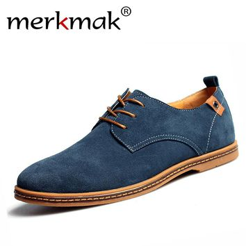 New 2017 men shoes spring autumn fashion suede shoes casual men Leather Shoes Men's flats low men footwear oxford flat shoes