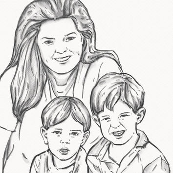 New mom Unique and Personalized gift for Birthday Wedding Christmas Original drawing Your custom portrait