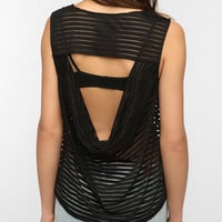 Sparkle & Fade Sheer Stripe Tank Top