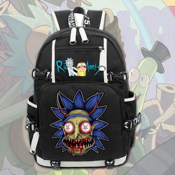 2017 New Rick and Morty Backpack  School , Laptop Travel Bags