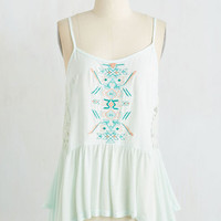 Boho Mid-length Sleeveless Fetching and Refreshing Top