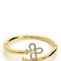 Gold Pave Key Bangle Bracelet by Juicy Couture, O/S