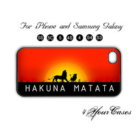HAKUNA MATATA,The Lion King,iPhone 5 case,iPhone 5C,iPhone 5S,Samsung Galaxy S3,Samsung Galaxy S4 Phone case,iPhone 4/ 4S Case