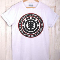 Skateboard Element White Logo T-Shirt