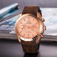 Omega Men Fashion Quartz Movement Wristwatch Watch