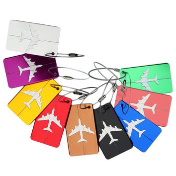 New Airplane Tags Travel Name ID Address Luggage Label Straps Aluminum Alloy Suitcase Mixproof Tags Travel Accessories
