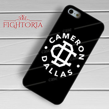 Cameron Dallas Logo BW - zAzA for  iPhone 6S case, iPhone 5s case, iPhone 6 case, iPhone 4S, Samsung S6 Edge