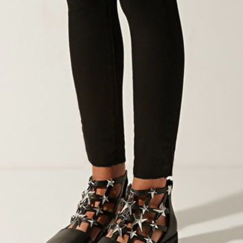 Eeight Nelly Studded Cutout Booties