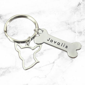 Handcrafted Personalized Puppy Dog Keychain (Chihuahua)