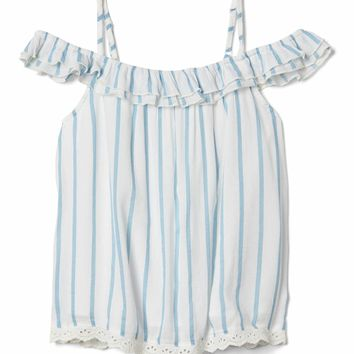 Stripe off shoulder top | Gap
