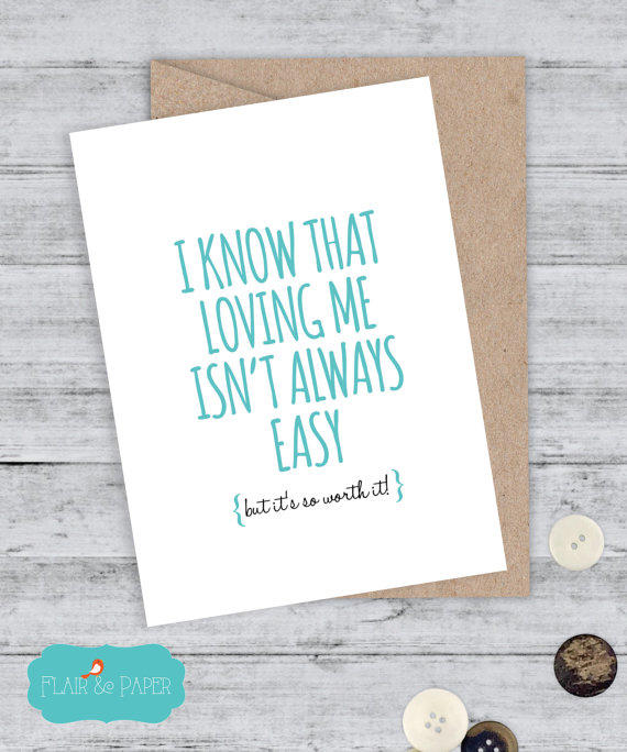 funny card boyfriend card snarky card from flairandpaper on etsy, Birthday card