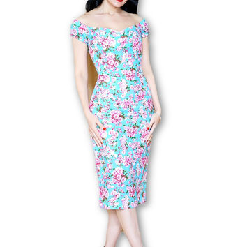 Scarlett Dress in Cherry Blossom print