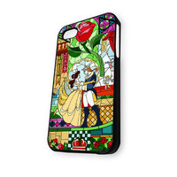 Beauty and Beast glass colour Rose Custom KC New 081 M iPhone 5/5S Case