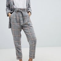 Bershka Check Peg Leg PANTS at asos.com