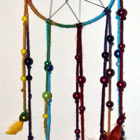 Homemade bead dreamcatcher