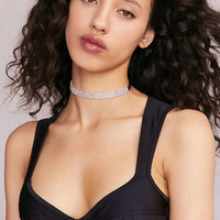 Melody Rhinestone Choker Necklace - Urban Outfitters