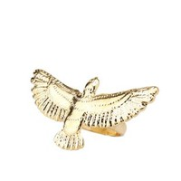 Gold Thunderbird Statement Ring by Charlotte Russe