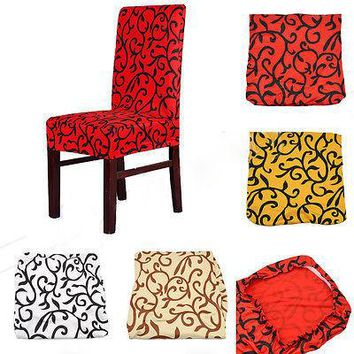 New 2016 Paddy Stretch Short Removable Dining Room Office Stool Chair Cover Slipcovers