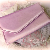 Pink Satin Evening Bag//Clutch, Envelope Clutch Purse, Shabby Chic Pink Fashion Accessories