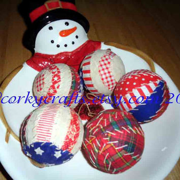 CIJ Sale Patriotic  Bowl Fillers, Americana, primitive ornaments,  4th of July/summer  bowl fillers  ornaments