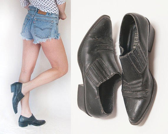 Black Faux Leather Ankle Boots 7 Or 65 From Classic Rock