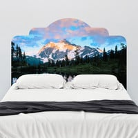 Paul Moore's Mt Shuckson Reflected In Picture Lake, WA Headboard wall decal