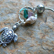 sea turtle beach dreamcatcher belly ring sea turtle seashell gemstones in belly dancer indie gypsy hippie morrocan boho and hipster style