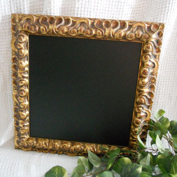 Ornate, ITALIAN, Large, gold Framed Chalkboard. Big Framed chalk board, kitchen menu board, restaurant chalkboard, large ornate gold frame