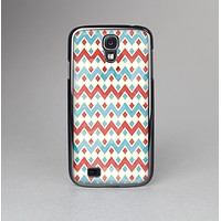 The Vintage Red & Blue Chevron Pattern Skin-Sert Case for the Samsung Galaxy S4