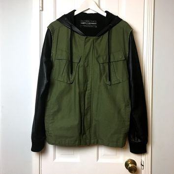 The Narrows men's black & Olive military Jacket sz M