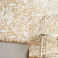 Marbled Metallic Wallpaper