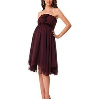 A Pea in the Pod Collection: Strapless Changeable Sash Included Maternity Dress