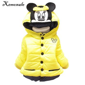 Xemonale Winter Baby Down Coats Kids Parka Children Warm Jackets Infantil Casacos Snowsuit Girls Outerwear Cloth