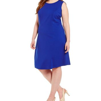 Peter Nygard Plus Luxe Fit-and-Flare Dress | Dillards