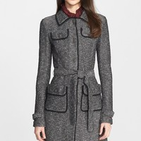 Women's St. John Collection Flecked Tweed Knit Topper,