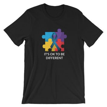 Its Ok To Be Different Autism Awareness Graphics Short-Sleeve Unisex T-Shirt
