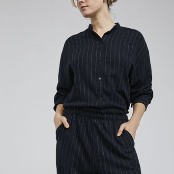 Ecologically grown cotton striped shirt - New In - PYJAMAS | Oysho Spain