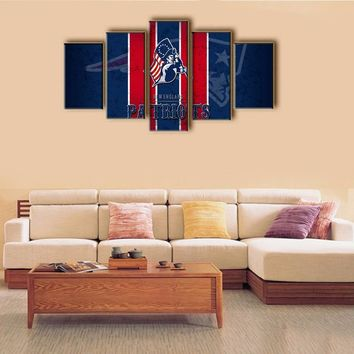 New York Giants New England Patriots Decorative Prints Unframed Sports Poster Backdrop Wall Art Deco Oil Painting on Canvas