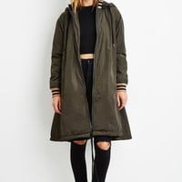 Contemporary Padded Longline Zip-Front Jacket