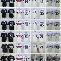 2017 Chicago White Sox Baseball Jersey 79 Jose Abreu 15 Brett Lawrie 21 Todd Frazier 35 Frank Thomas 14 Paul Konerko Jordan Cool Base Shirt