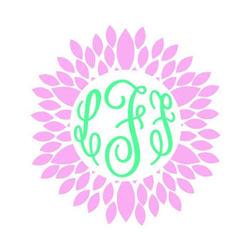 Flower Border Monogram Decal Add Personality to Christmas Gifts, Great personal Gift, Gift Wrap Option, Personalize So Many Things