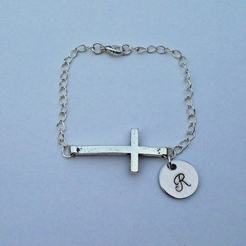 Rustic cross with Personalized Monogramed by KennabelleDesigns