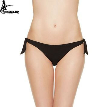 DCCK7N3 EONAR Swimwear Women 2017 Cheeky Bikini  Bottom Adjustable Side Ties  Brazilian Thong Swimsuit  Classic Cut Bottoms Biquini Swim